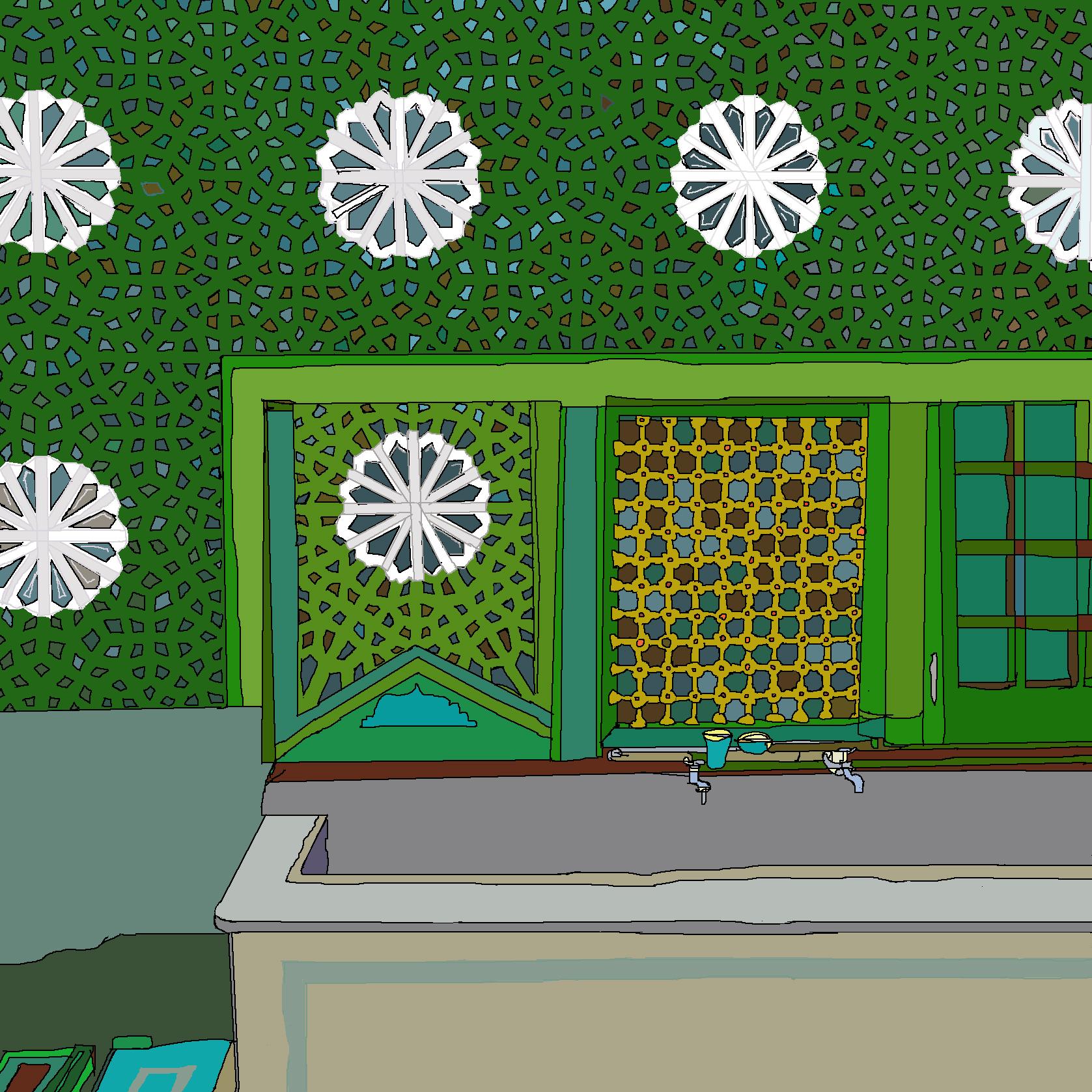 fontaine verte, iran